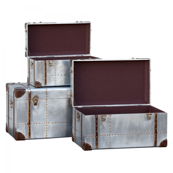 Industrial Aluminium Trunk Set - Silver