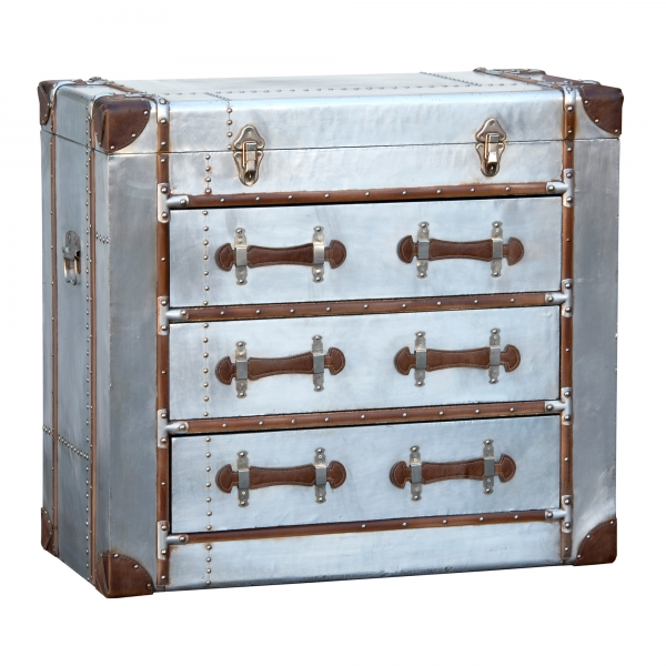 Industrial Aluminium Chest of Drawers - Silver