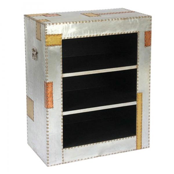Industrial Aluminium Bookshelf - Silver and Copper