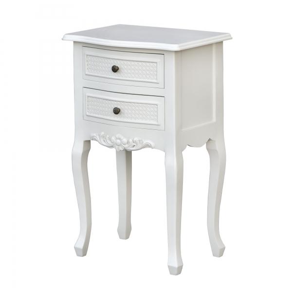 Boudoir Provence Bedside Table - Antique White