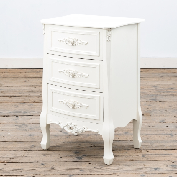 Rose White Bedside Table - Soft White