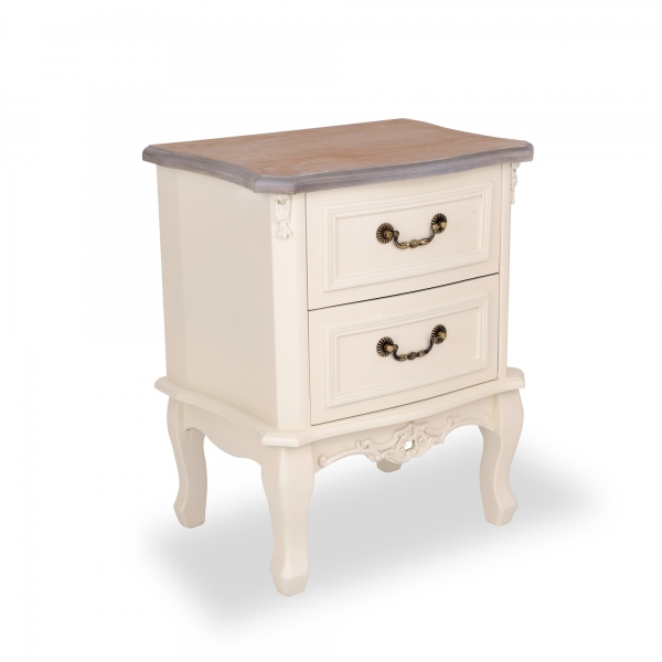 Appleby Bedside Table - Antique White