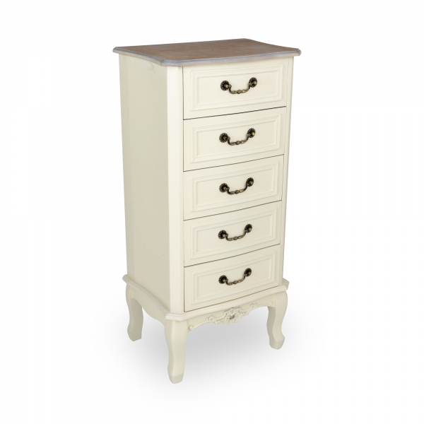 Appleby Tallboy Chest of Drawers - Antique White