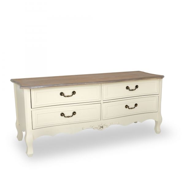 Appleby Media Unit Low Cabinet - Antique White
