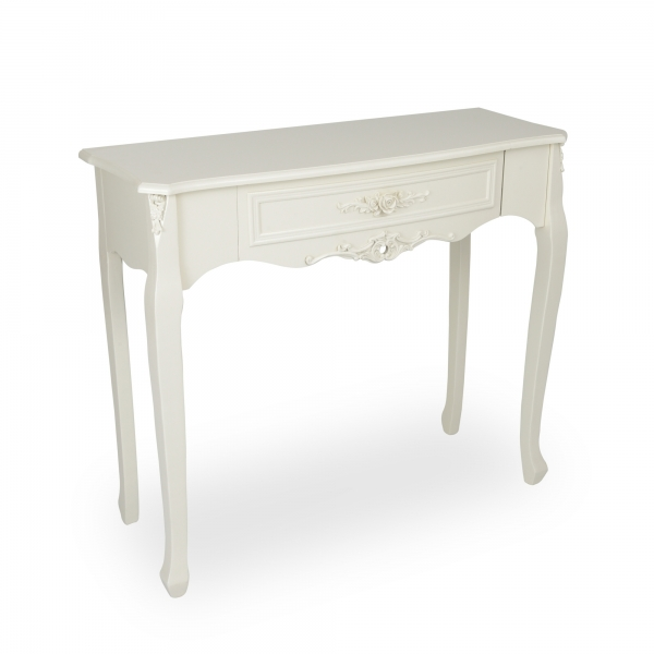 Rose White Console Table - Soft White