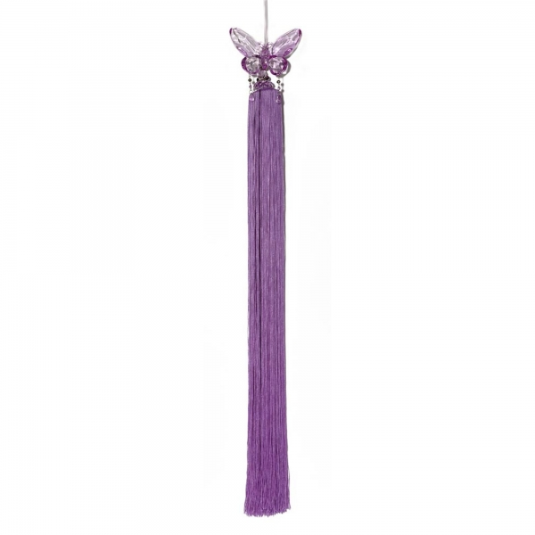 Lilac Tassel with Crystal