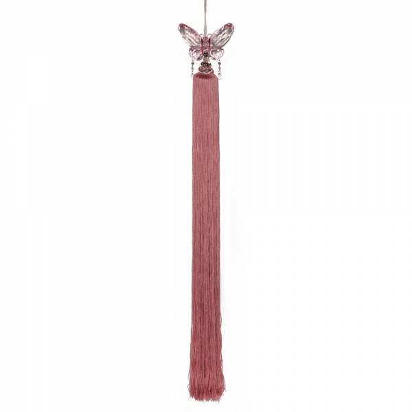 Pink Tassel with Crystal