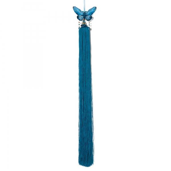 Turkish Blue Tassel with Crystal