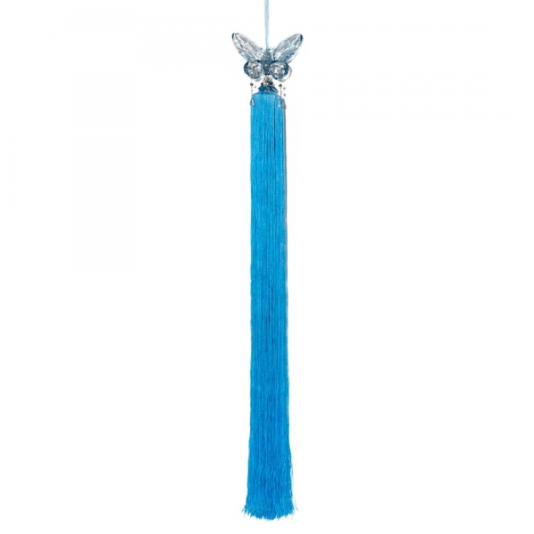 Water Blue Tassel with Crystal