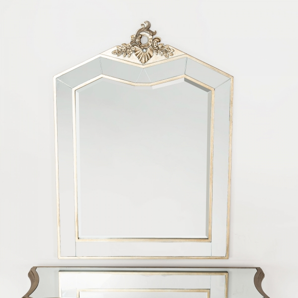Annabelle Bevelled Wall Mirror - Silver Gilt Leaf