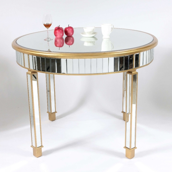 Genevieve Gold Grand Mirrored Dining Table