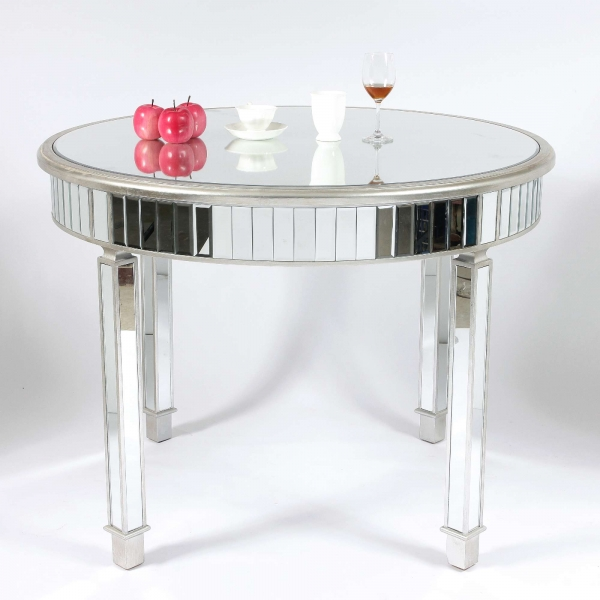 Genevieve Silver Grand Mirrored Dining Table