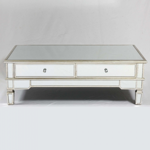 Genevieve Silver Mirrored Coffee Table