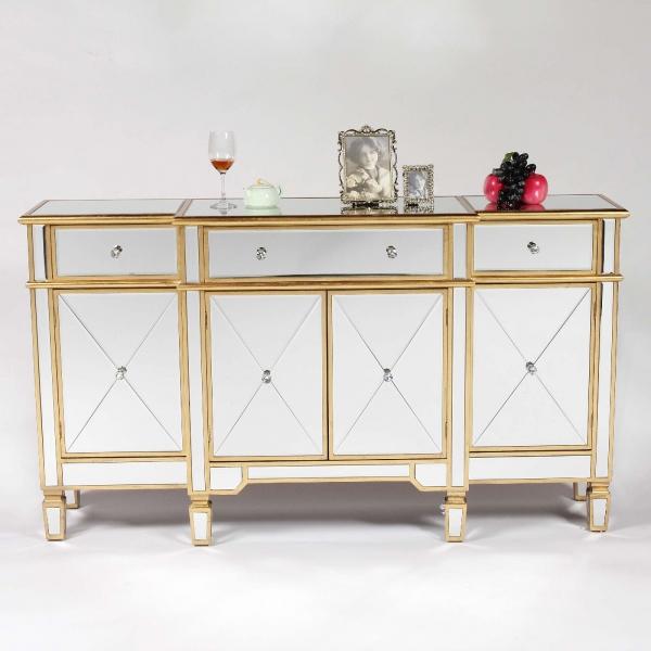 Genevieve Gold Mirrored Sideboard