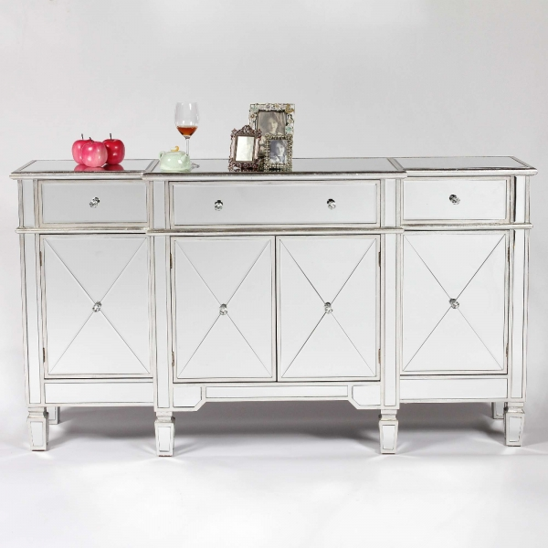 Genevieve Silver Mirrored Sideboard