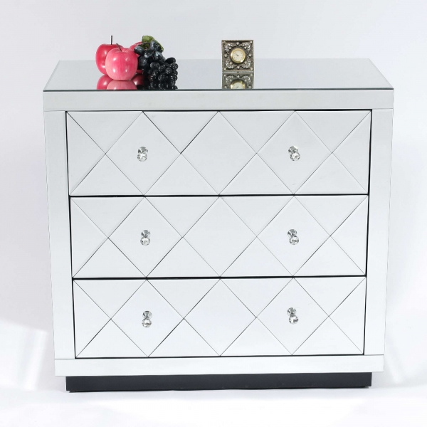 Diamant Mirrored Chest of Drawers