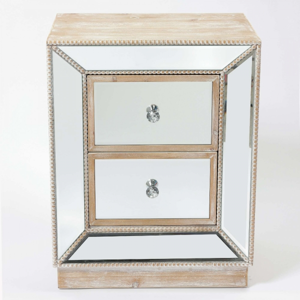 Pearl Mirrored Bedside Table