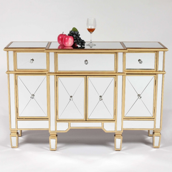 Mirrored Gold Side Cabinet