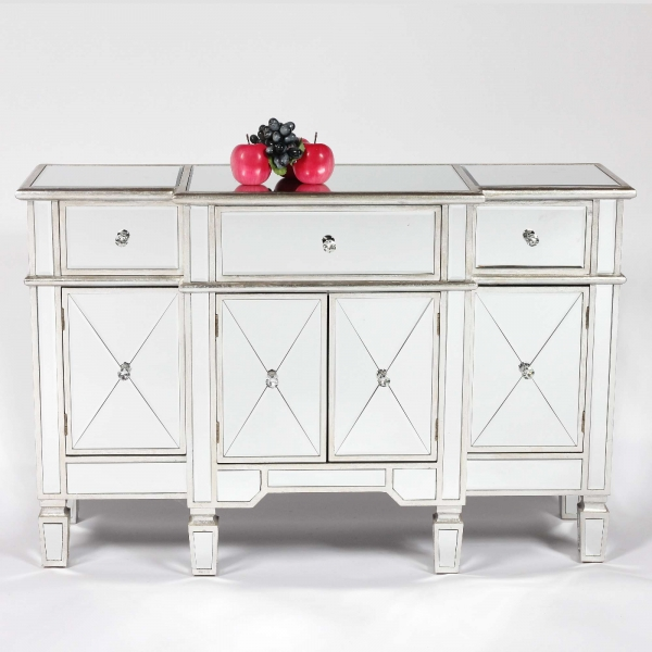 Mirrored Silver Side Cabinet
