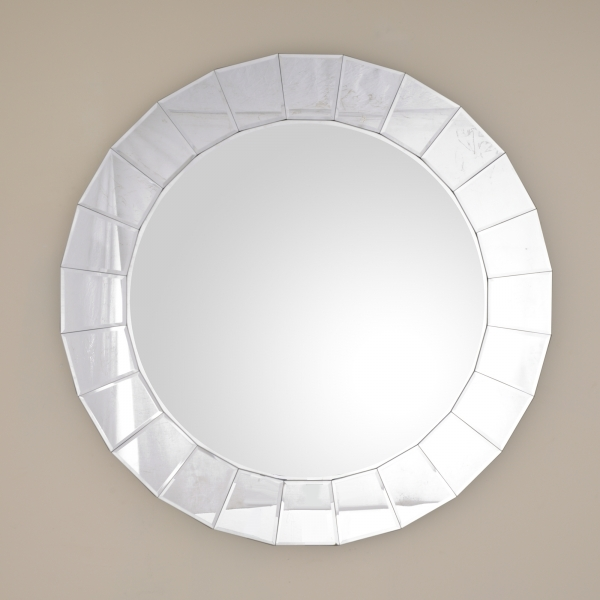 Venetian Mirror with Square Shaped Mirrored Bezels