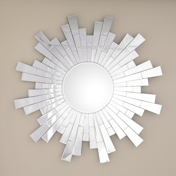 Venetian Geometric Round Mirror