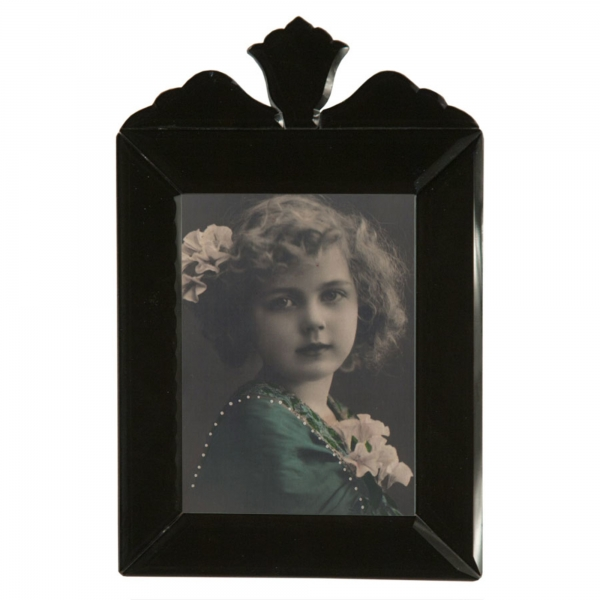 Venetian Mirror  Black Portrait  Photo Frame