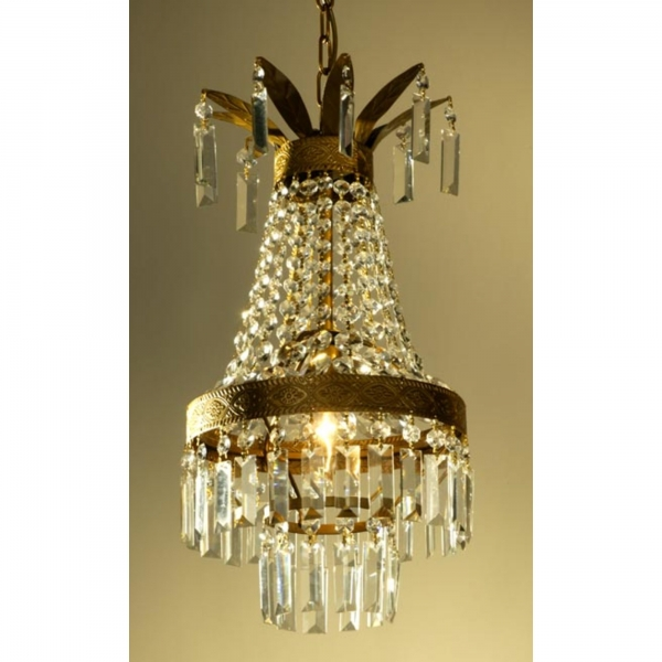 Gold Chandelier Clear Crystals