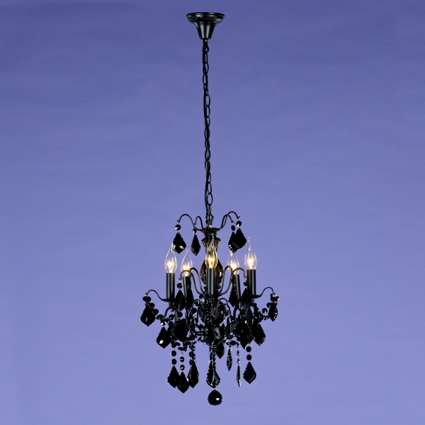 Charlotte 5 Light Chandelier - Black