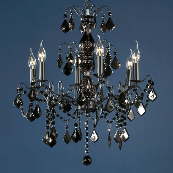 Charlotte 6 Light Chandelier - Black