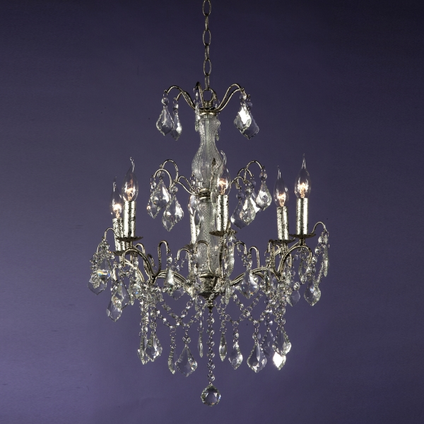 Charlotte 6 Light Chandelier - Silver