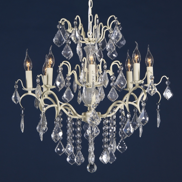 Charlotte 8 Light Chandelier - Cream Crack