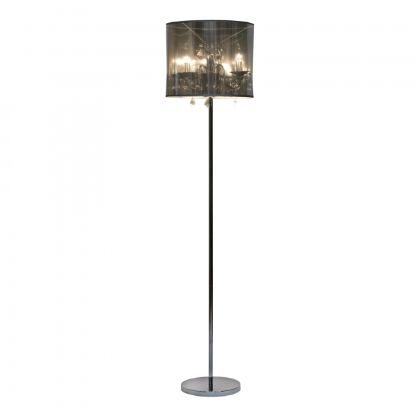 Contemporary Floor Lamp - Chrome