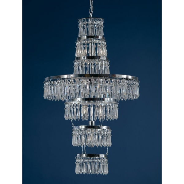 Crystal 3 Light Ceiling Light - Chrome