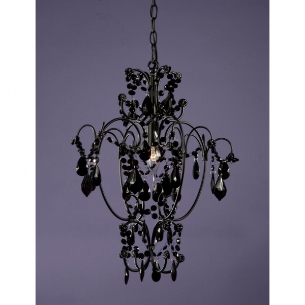 Vintage Crystal Chandelier Light - Black