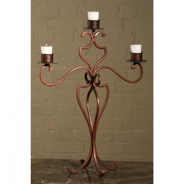 Bronze Candelabra (Candle) - 3 Arm