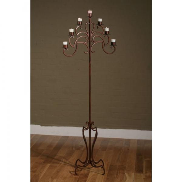 Floor Standing 7 Arm Candelabra - Bronze