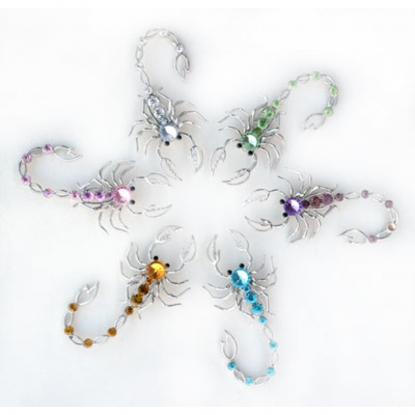 Brooches - set of 6 pcs