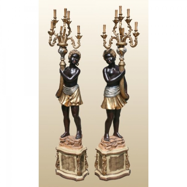 Blackamoor Lamps 1 Pair