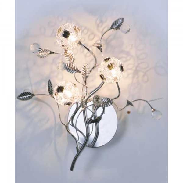 Flowers Wall Light - Silver