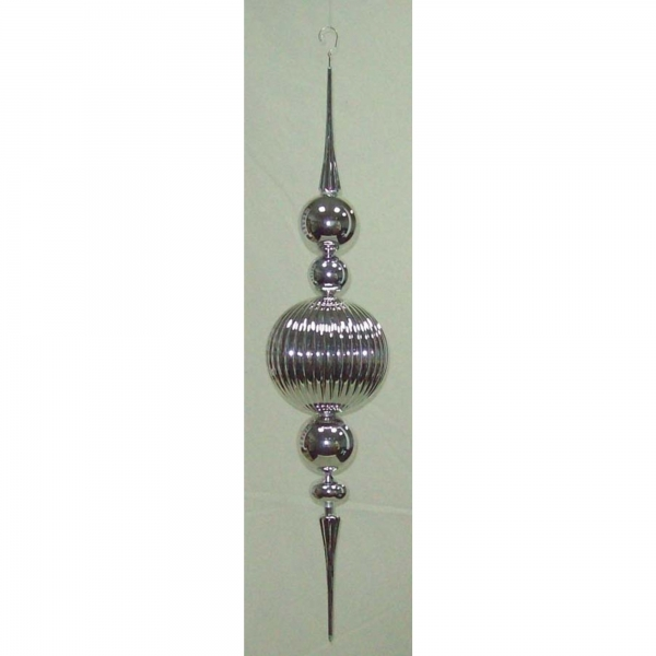 PLATED BALL FINIAL HANGING ORNAMENT .