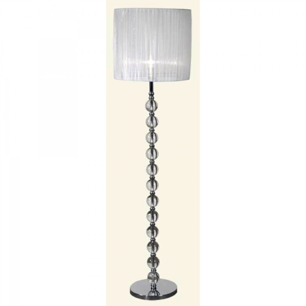 Crystal Floor Lamp with Ribbon Shade