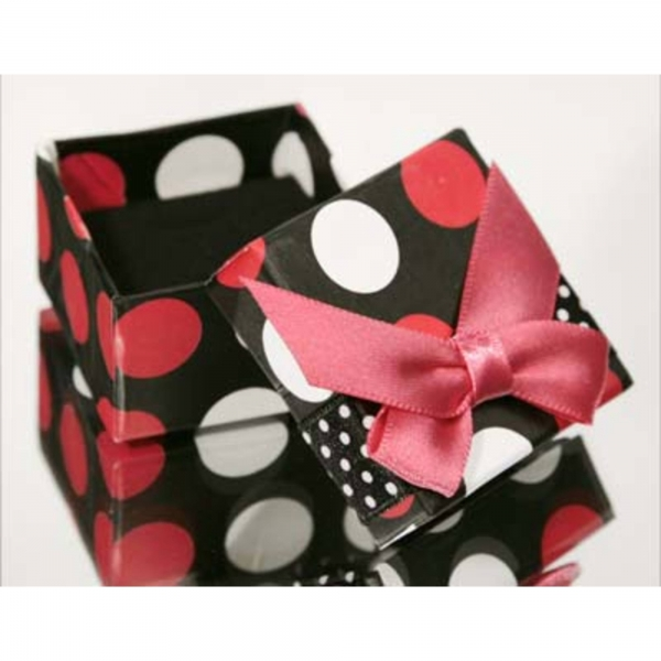 Jewellery Gift Box - Black, Red and White