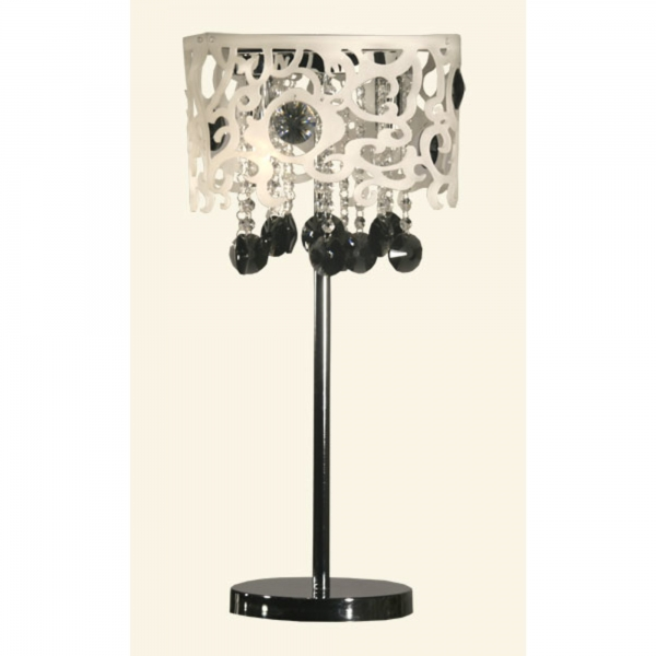 Table Lamp - Silver and Black