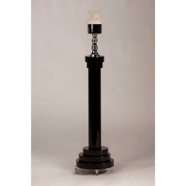 Crystal Table Lamp - Black
