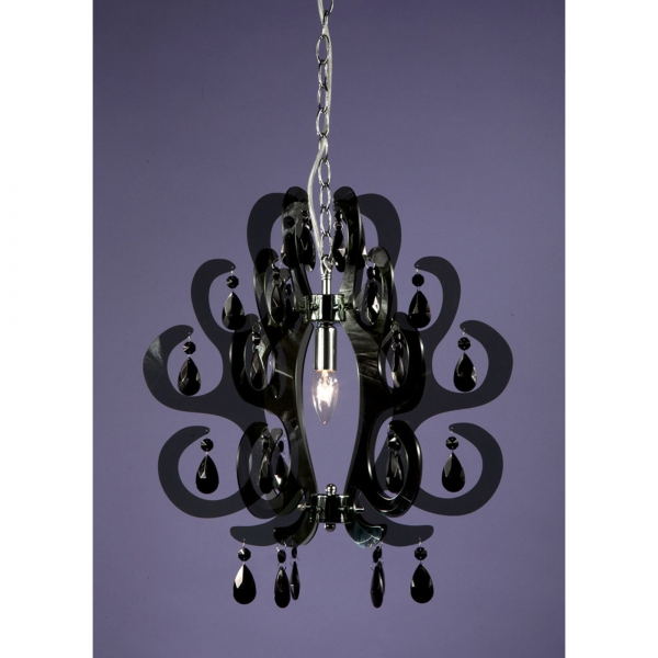 Curl Acrylic Ceiling Light - Black