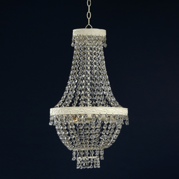 Pendant 3 Light Chandelier - White