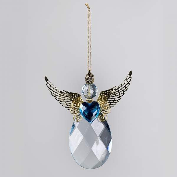 Decorative Accessories Angel Blue Acrylic Teardrop with Silver