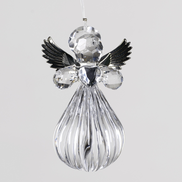 Tear Drop Angel Crystal Decoration