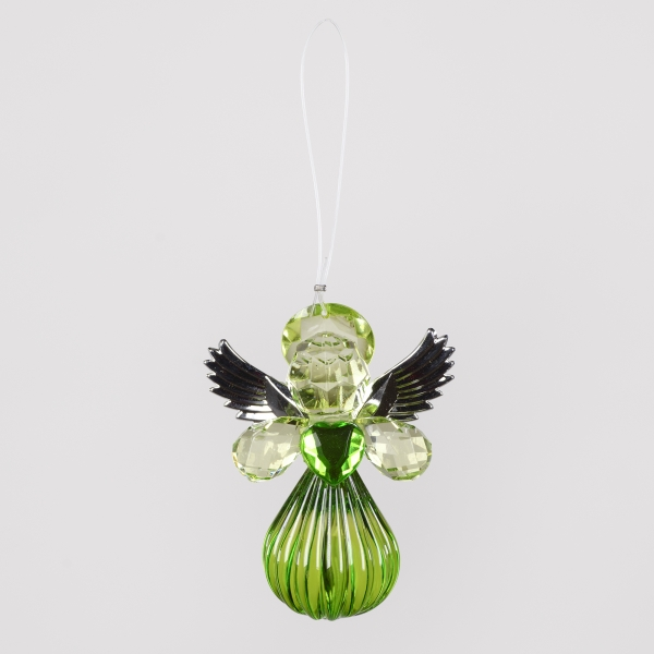 Decorative Accessories Angel Green Acrylic with Silver