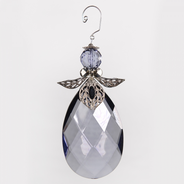 Decorative Accessories Angel Clear Acrylic Teardrop with Silver